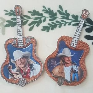 ALAN JACKSON COUNTRY LEGEND  2 ART DECOR PLATES